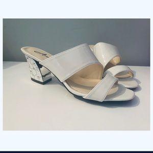 Annie Block white Heels